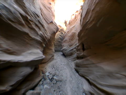 pathway through narrow gorge - narrow stock videos and b-roll footage