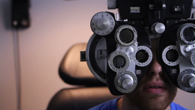 Patient at the Eye Doctor