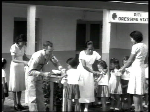 patient being carried up stairs chamorro children being inoculated navy doctors in or dentist chamorro child being check by dentist ext industry... - pacific islander doctor stock videos & royalty-free footage