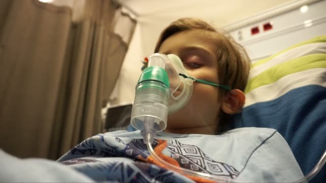 patient boy - oxygen mask stock videos and b-roll footage