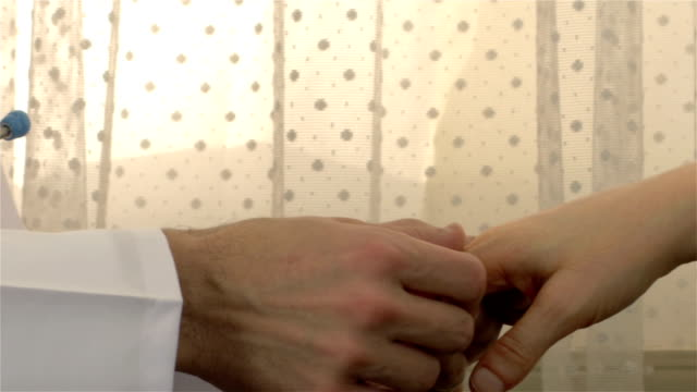 patient hand medical exam - 4k resolution - wrist stock videos & royalty-free footage