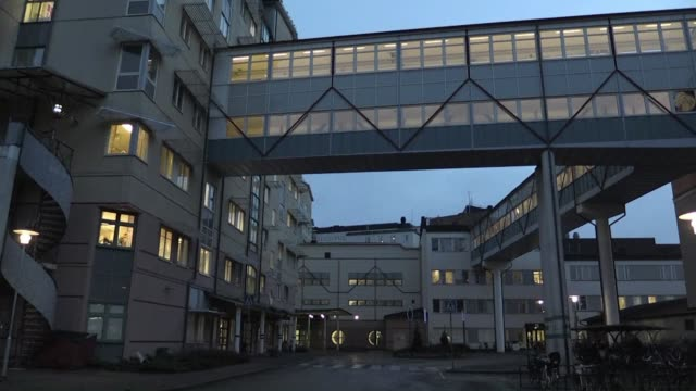 a patient in sweden has been admitted to hospital with a suspected case of ebola a highly infectious and potentially fatal disease health care... - uppsala stock videos and b-roll footage