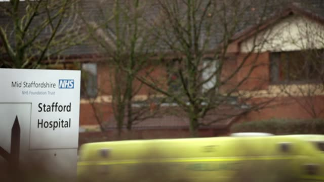 patient safety charity calls for duty of candour law for private hospitals and gps date gv mid staffordshire hospital stafford hospital sign accident... - stafford england stock videos and b-roll footage