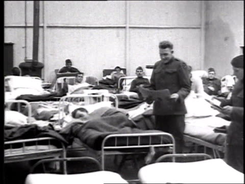 w patients and medical personnel in hospital ward / france - 1918 stock videos & royalty-free footage