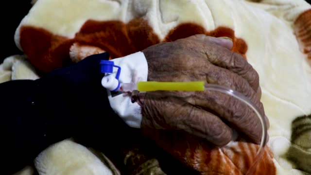 patients receiving cholera treatment at the sabeen hospital in sanaa, yemen on march 10, 2019. an estimated 8.4 million people in yemen are at risk... - yemen stock videos & royalty-free footage