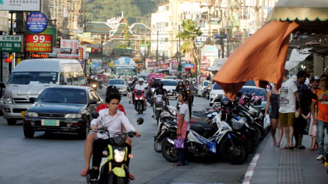 patong city slow motion - thailand stock videos & royalty-free footage