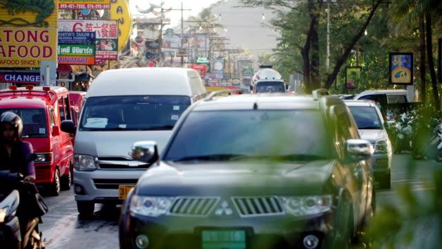 patong city slow motion - phuket stock videos & royalty-free footage
