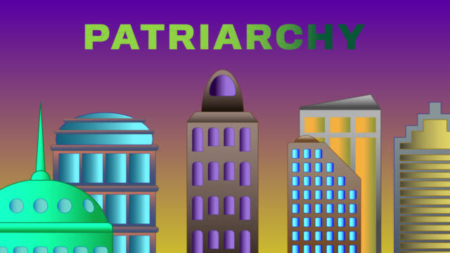 patriarchy  word shattered on cityscape - patriarchy stock videos & royalty-free footage
