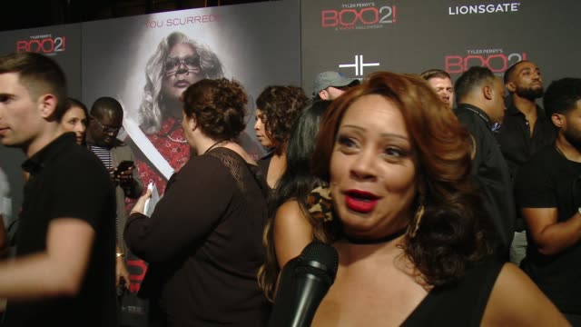 """INTERVIEW Patrice Lovely on the premiere at Lionsgate Presents the Los Angeles Premiere of Tyler Perry's """"Boo 2 A Madea Halloween"""" in Los Angeles CA"""
