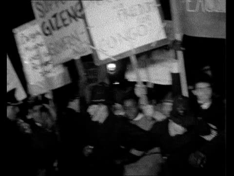 riot at belgian embassy in london bg title england london trafalgar square ext ts police and rioters struggle neg 16mm itn 14secs 9ft tx 19261/9pm - itv evening bulletin stock videos & royalty-free footage