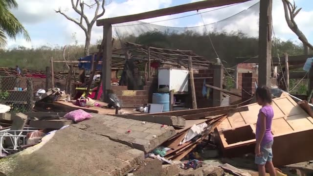 stockvideo's en b-roll-footage met patricia affected all of the homes in the town of chamela mexico but authorities said saturday the record breaking hurricane largely spared the... - recordbrekend