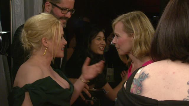 patricia arquette and amy ryan at the 21st annual screen actors guild awards trophy room at the shrine auditorium on january 25 2015 in los angeles... - shrine auditorium stock videos and b-roll footage