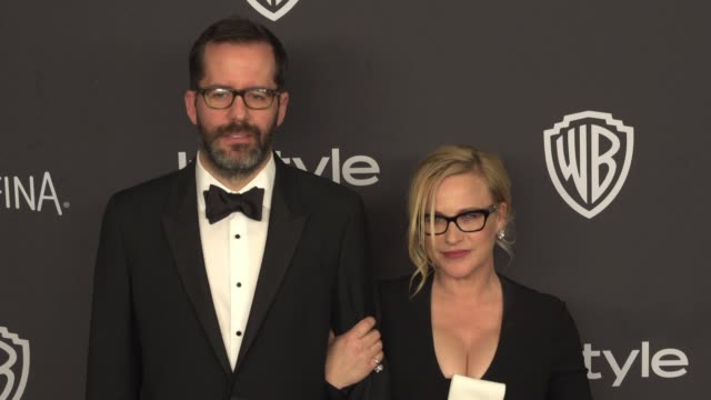 patricia arquette and eric white at the 17th annual instyle and warner bros. pictures golden globe after-party at the beverly hilton hotel on january... - patricia arquette stock videos & royalty-free footage