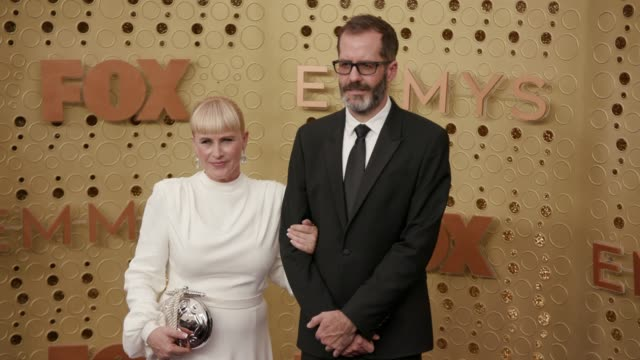 patricia arquette and eric white at the 71st emmy awards - arrivals at microsoft theater on september 22, 2019 in los angeles, california. - patricia arquette stock videos & royalty-free footage