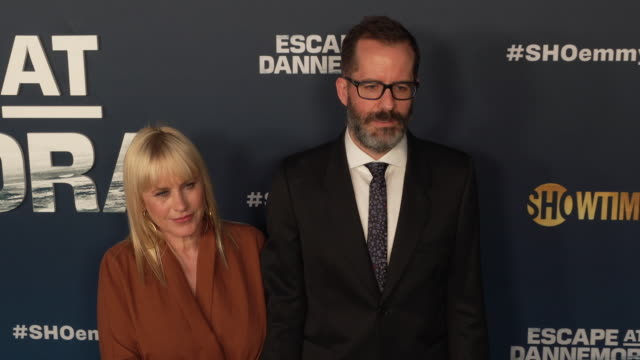 """patricia arquette and eric white at the """"escape at dannemora"""" emmy fyc event at neuehouse hollywood on june 05, 2019 in los angeles, california. - patricia arquette stock videos & royalty-free footage"""