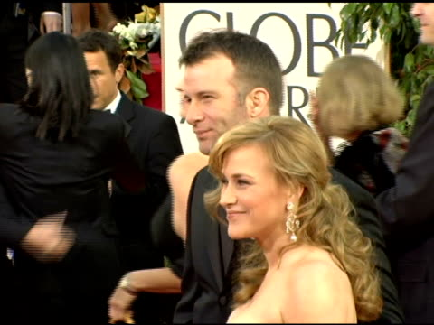patricia arquette and guest at the 2006 golden globe awards arrivals at the beverly hilton in beverly hills, california on january 16, 2006. - patricia arquette stock videos & royalty-free footage
