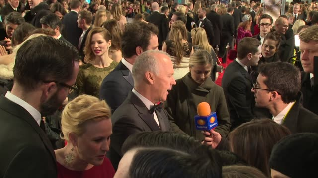 patricia arquette and michael keaton at the ee british academy film awards , london, england, february 8th 2015 - patricia arquette stock videos & royalty-free footage