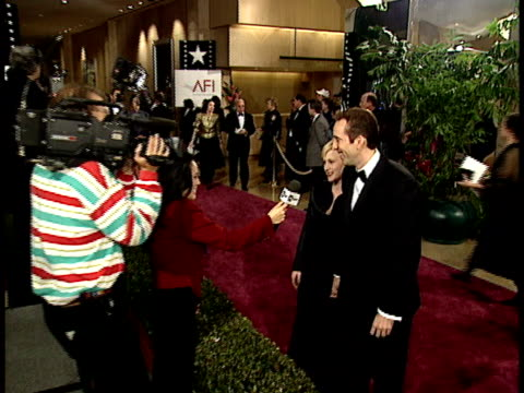 patricia arquette and nicolas cage on the red carpet - nicolas cage stock videos & royalty-free footage