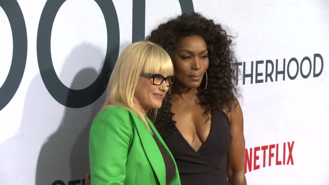 patricia arquette, angela bassett at the netflix special screening of otherhood in los angeles, ca 7/31/19 - angela bassett stock videos & royalty-free footage