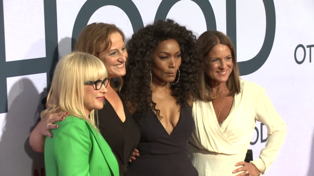 patricia arquette, angela bassett, cindy chupack, cathy schulman at the netflix special screening of otherhood in los angeles, ca 7/31/19 - angela bassett stock videos & royalty-free footage