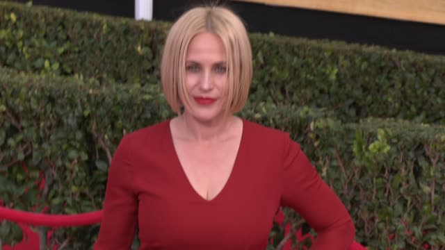 patricia arquette at 20th annual screen actors guild awards - arrivals at the shrine auditorium on in los angeles, california. - shrine auditorium stock videos & royalty-free footage