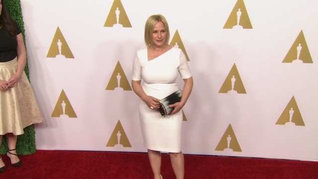 patricia arquette at 87th annual academy awards nominee luncheon - reception at the beverly hilton hotel on february 02, 2015 in beverly hills,... - the beverly hilton hotel stock videos & royalty-free footage