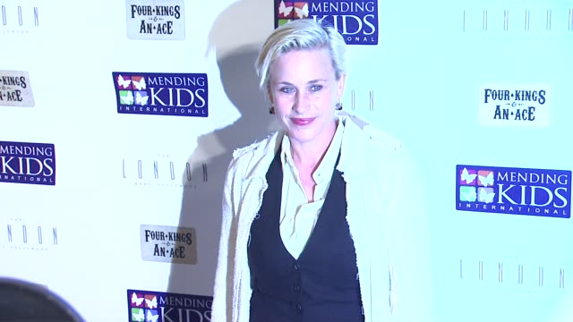 patricia arquette at mending kids international four kings and an ace celebrity poker tournament on 12/1/12 in los angeles, ca - patricia arquette stock videos & royalty-free footage