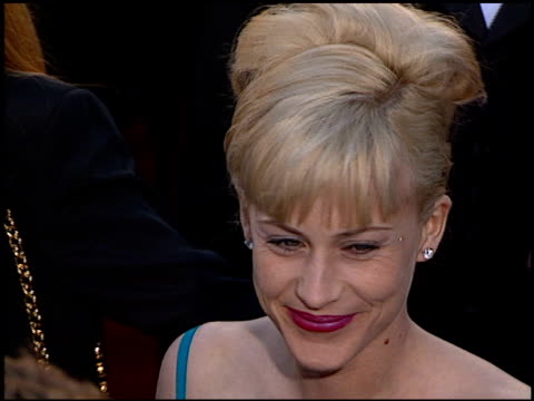 patricia arquette at the 1996 academy awards arrivals at the shrine auditorium in los angeles california on march 25 1996 - 68th annual academy awards stock videos & royalty-free footage