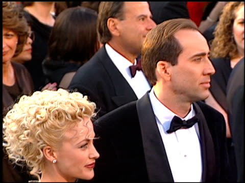 patricia arquette at the 1997 academy awards arrivals at the shrine auditorium in los angeles, california on march 24, 1997. - 第69回アカデミー賞点の映像素材/bロール