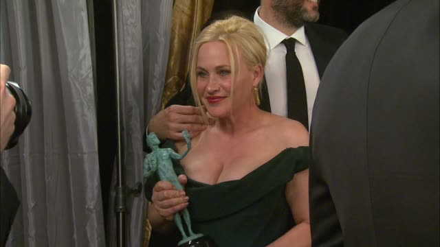 Patricia Arquette at the 21st Annual Screen Actors Guild Awards Trophy Room at The Shrine Auditorium on January 25 2015 in Los Angeles California