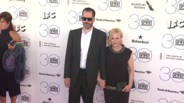 patricia arquette at the 30th annual film independent spirit awards - arrivals at santa monica beach on february 21, 2015 in santa monica, california. - patricia arquette stock videos & royalty-free footage