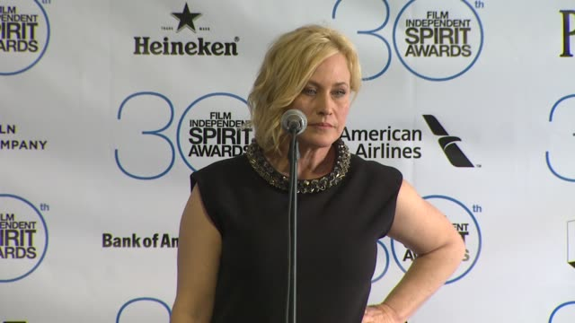 patricia arquette at the 30th annual film independent spirit awards - press room at santa monica beach on february 21, 2015 in santa monica,... - patricia arquette stock videos & royalty-free footage