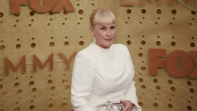patricia arquette at the 71st emmy awards - arrivals at microsoft theater on september 22, 2019 in los angeles, california. - patricia arquette stock videos & royalty-free footage