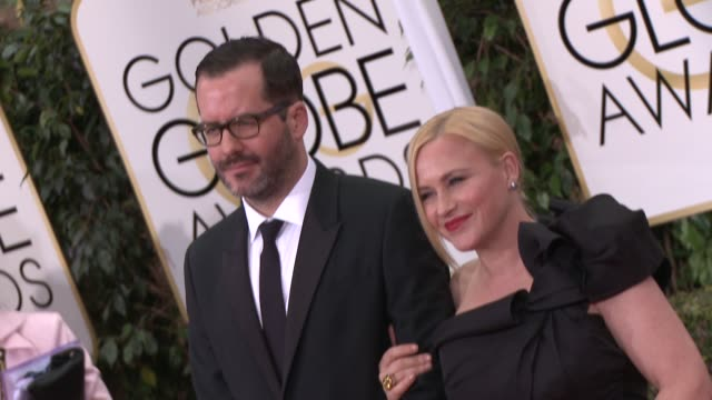 vídeos y material grabado en eventos de stock de patricia arquette at the 72nd annual golden globe awards arrivals at the beverly hilton hotel on january 11 2015 in beverly hills california - the beverly hilton hotel