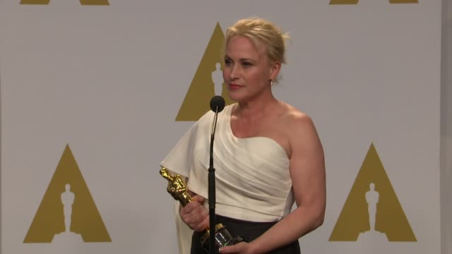 stockvideo's en b-roll-footage met speech patricia arquette at the 87th annual academy awards press room at dolby theatre on february 22 2015 in hollywood california - dolby theatre