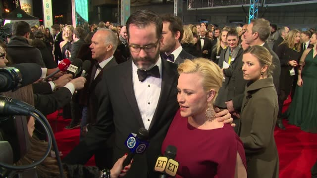 patricia arquette at the ee british academy film awards , london, england, february 8th 2015 - patricia arquette stock videos & royalty-free footage