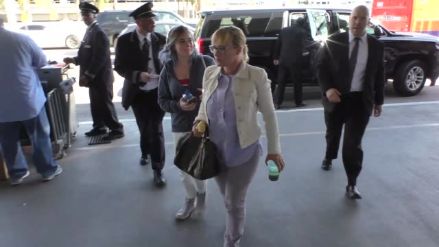 patricia arquette departing at lax airport in los angeles in celebrity sightings in los angeles, - patricia arquette stock videos & royalty-free footage