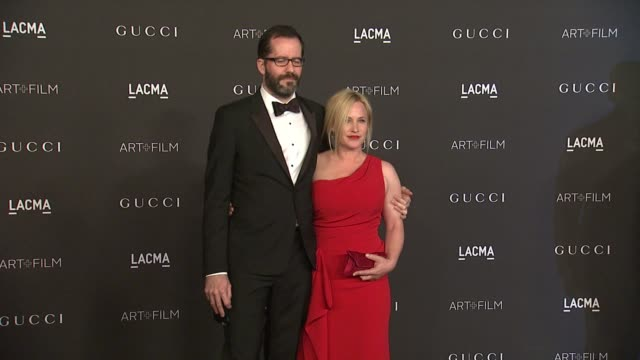 patricia arquette, eric white at 2014 lacma art+film gala honoring barbara kruger and quentin tarantino presented by gucci in los angeles, ca 11/1/14 - escada stock videos & royalty-free footage
