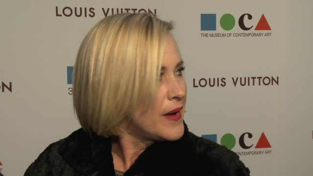patricia arquette on moca's gala being in at moca's 35th anniversary gala presented by louis vuitton at the geffen contemporary at moca on march 29,... - patricia arquette stock videos & royalty-free footage