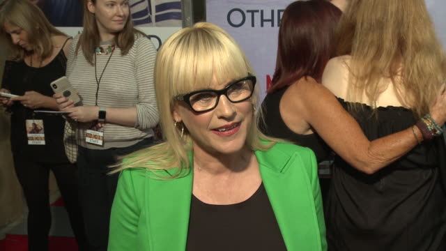 patricia arquette on why she loved this story, if she related to the character at the netflix special screening of otherhood in los angeles, ca... - patricia arquette stock videos & royalty-free footage