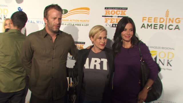 Patricia Arquette Thomas Jane Courteney CoxArquette at the 'Rock A Little Feed A Lot' Benefit Concert at Los Angeles CA