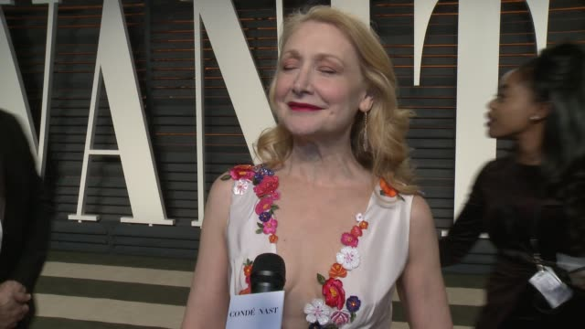 patricia clarkson at the 2016 vanity fair oscar party hosted by graydon carter at wallis annenberg center for the performing arts on february 28,... - vanity fair oscar party stock videos & royalty-free footage