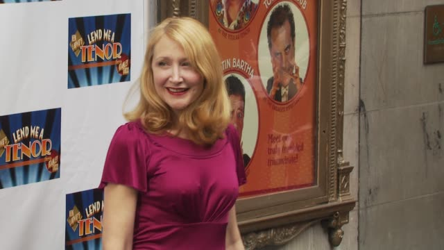 patricia clarkson at the opening of 'lend me a tenor' arrivals at new york ny - lend me a tenor stock-videos und b-roll-filmmaterial