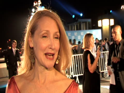 patricia clarkson on what she is wearing, on first impressions of the tribeca film festival, on her movie that she is showing at the festival, at the... - day 1 stock videos & royalty-free footage