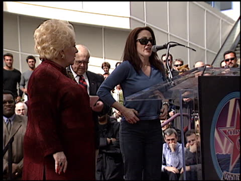 patricia heaton at the dediction of doris roberts's walk of fame star at the hollywood walk of fame in hollywood, california on february 10, 2003. - doris roberts stock videos & royalty-free footage