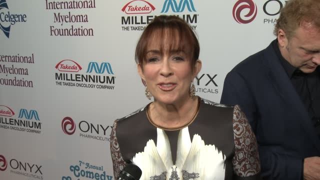 patricia heaton on her dress at international myeloma foundation 7th annual comedy celebration benefiting the peter boyle research fund & supporting... - peter boyle stock videos & royalty-free footage