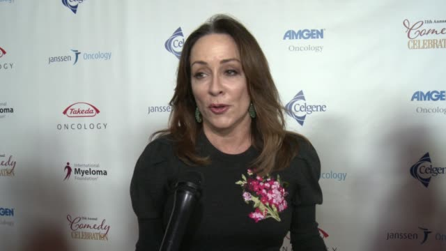 stockvideo's en b-roll-footage met interview patricia heaton on why is it important to you to support this cause and on which performances are you most looking forward to tonight on if... - wilshire ebell theatre
