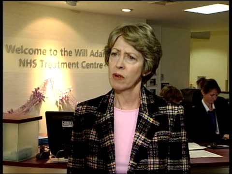 patricia hewitt visits gillingham hospital patricia hewitt mp interview sot virtually nobody will have to wait more than three months for their first... - outpatient care stock videos & royalty-free footage
