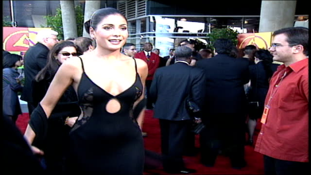 patricia manterola is showing off her dress at the 2000 latin grammys. - latin grammy awards stock videos & royalty-free footage