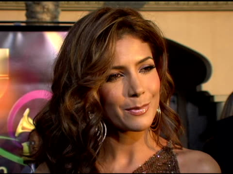 patricia manterolald on what we would recognize her from,the award she's presenting, and the significance of the event at the 2005 latin grammy... - latin grammy awards stock videos & royalty-free footage